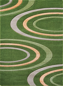 Nowoczesny dywan Jakamoz 1061 zielony