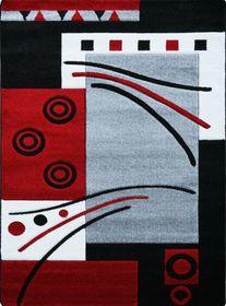 Nowoczesny dywan Jakamoz 1019 szaro-czerwony