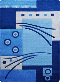 Nowoczesny dywan Jakamoz 1019 niebieski