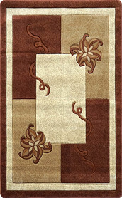 Nowoczesny dywan Adora 5241 brązowy