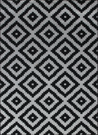 Nowoczesny dywan Artos 1639 BLACK. Czarno białe wzory podkreślą charakter Twojego pomieszczenia. Profesjonalne wykonanie oraz wysoka jakość, gwarantują długie użytkowanie produktu.