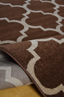 Nowoczesny dywan Artos 1716 BROWN. Modny wzór - marokańska koniczyna . Profesjonalne wykonanie oraz wysoka jakość, gwarantują długie użytkowanie produktu.