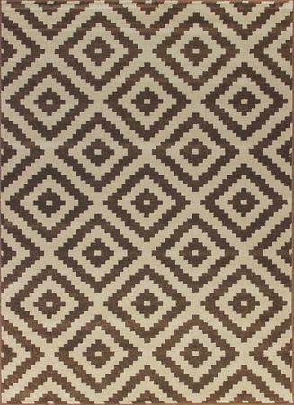 Nowoczesny dywan Artos 1639 BROWN. Brązowo beżowe barwy i regularny wzór podkreślą charakter Twojego pomieszczenia. Profesjonalne wykonanie oraz wysoka jakość, gwarantują długie użytkowanie produktu.