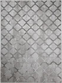 Nowoczesny dywan Bergama 08075A L.GREY. Modny wzór - marokańska koniczyna. Profesjonalne wykonanie oraz wysoka jakość, gwarantują długie użytkowanie produktu.