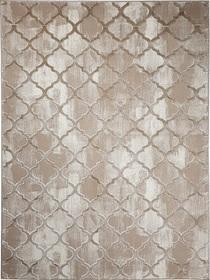 Nowoczesny dywan Bergama 08075A D.BEIGE. Modny wzór - marokańska koniczyna. Profesjonalne wykonanie oraz wysoka jakość, gwarantują długie użytkowanie produktu.