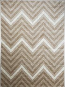 Nowoczesny dywan Poloness 07423A L.BEIGE. Odcienie beżu oraz regularny wzór podkreślą charakter Twojego pomieszczenia. Profesjonalne wykonanie oraz wysoka jakość, gwarantują długie użytkowanie produktu.