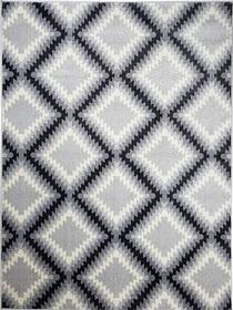 Nowoczesny dywan Poloness 07605A L.GREY. Odcienie szarości oraz regularny wzór podkreślą charakter Twojego pomieszczenia. Profesjonalne wykonanie oraz wysoka jakość, gwarantują długie użytkowanie produktu.