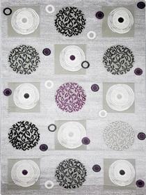 Nowoczesny akrylowy dywan Viva Acrylic 03354K A.GRI. Połączenie szarości i fioletu oraz regularny wzór podkreślą charakter Twojego pomieszczenia. Profesjonalne wykonanie oraz wysoka jakość, gwarantują długie użytkowanie produktu.