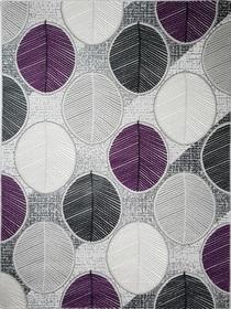 Nowoczesny akrylowy dywan Viva Acrylic 03356K L.GREY. Połączenie szarości i fioletu oraz regularny wzór podkreślą charakter Twojego pomieszczenia. Profesjonalne wykonanie oraz wysoka jakość, gwarantują długie użytkowanie produktu.