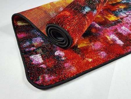 Nowoczesny dywan BELLA X5843A BLACK. Wielobarwność i nieregularne, rozmyte wzory podkreślą charakter Twojego pomieszczenia. Profesjonalne wykonanie oraz wysoka jakość, gwarantują długie użytkowanie produktu.