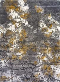 Nowoczesny dywan Zara 9651 YELLOW GREY. Grafitowo szare wzory podkreślą charakter Twojego pomieszczenia. Profesjonalne wykonanie oraz wysoka jakość, gwarantują długie użytkowanie produktu.