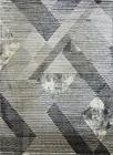 Nowoczesny dywan MARVEL 7602 GREY Carpets24 carpets24pl fraktale plamy mozaika kleksy wstęgi szary beżowy pasy linie kwadraty geometria