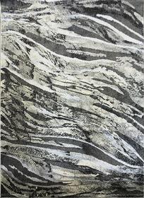 Nowoczesny dywan MARVEL 7603 GREY Carpets24 carpets24pl fraktale plamy mozaika kleksy wstęgi szary beżowy