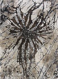 Nowoczesny dywan MARVEL 7604 BEIGE Carpets24 carpets24pl fraktale plamy mozaika kleksy wstęgi szary beżowy