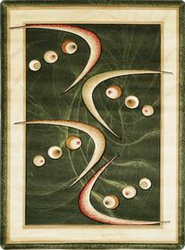 Nowoczesny dywan Adora 5566 zielony